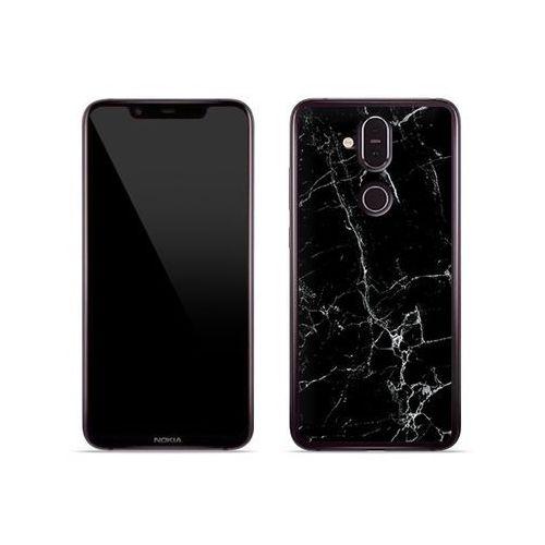 Nokia 8.1 - etui na telefon Fantastic Case - czarny marmur, kolor czarny
