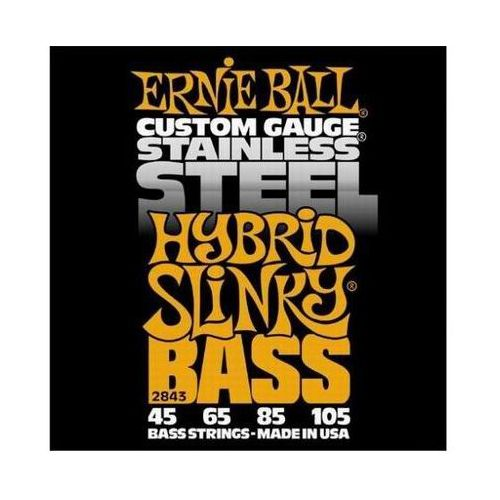 2843 stainless steel bass struny do gitary basowej 45-105 marki Ernie ball