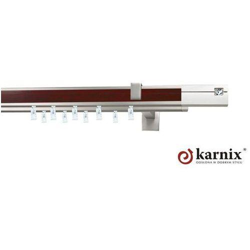 Karnisz apartamentowy AVENO podwójny 31x13/31x13mm Siso Crystal Chrom mat - mahoń - oferta [3564407dc7b594e1]