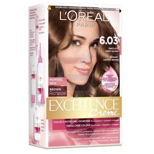 Excellence Creme farba do włosów 6.03 Świetlisty ciemny blond - L'Oreal Paris, kolor blond