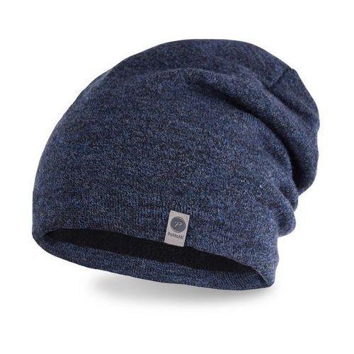 Zimowa czapka męska PaMaMi - Granatowa mulina - Granatowa mulina (5902934012485)