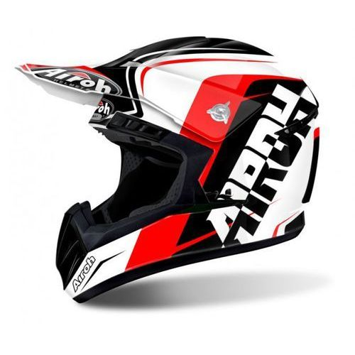 Kask switch sign red gloss kask off-road marki Airoh