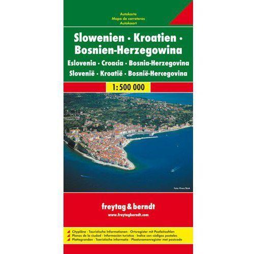 Słowenia Chorwacja Bośnia i Hercegowina. Mapa 1:500 000, Lider Serwis Zbigniew Raszka