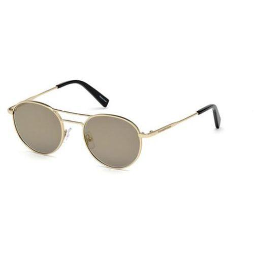 Okulary Słoneczne Ermenegildo Zegna EZ0089 32C, kolor żółty