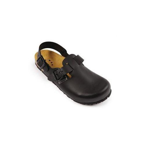 Skórzane buty Slip On z paskiem | czarne | rozmiary 36-47