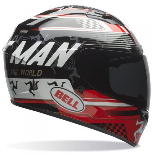 Bell qualifier dlx isle of man black/red kask integralny