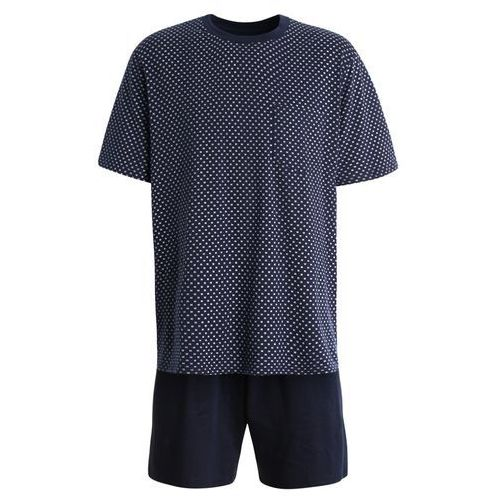 Schiesser ANZUG KURZ SET Piżama dunkelblau