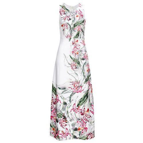 Sukienka żakardowa bonprix jasny brzoskwiniowy