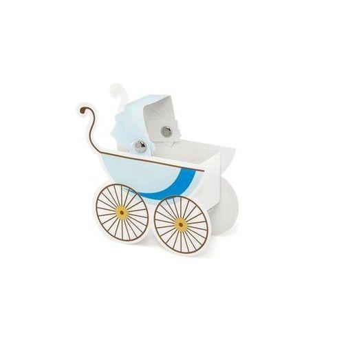 Pudełeczka dla gości wózeczek błękitny - 10 szt.