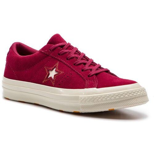 Converse Tenisówki - one star ox 163192c rhubarb/field orange/egret