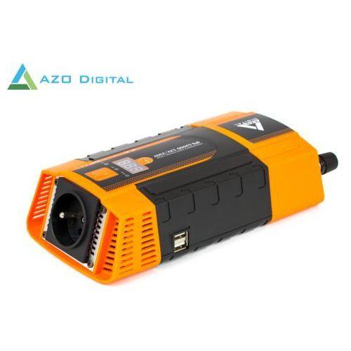 Azo digital Samochodowa przetwornica napięcia 12 vdc / 230 vac ips-1200d 1200w (5905279203693)