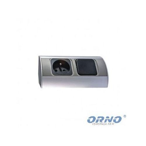 Orno Gniazdo meblowe or-ae-1303 bez wyłącznika 2 x 230v + zamów z dostawą jutro! (5901752483415)
