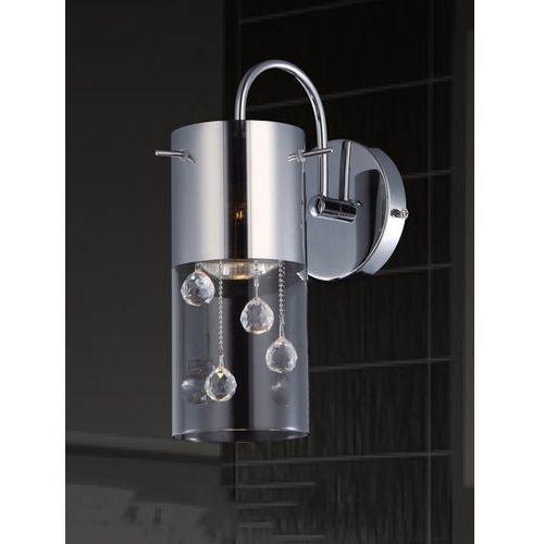 Italux Oprawa lampa ścienna szklana tuba z kryształkami cordell 1x35w gu10 chrom mbm1835-1 (5900644348641)