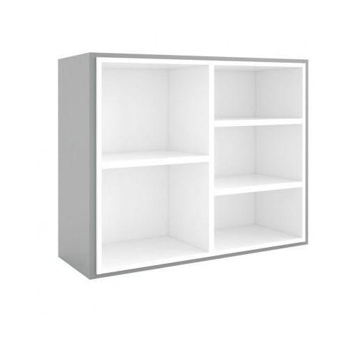 Biblioteka MODUL 800 x 1000 mm + wewnętrzny moduł, szary/biały