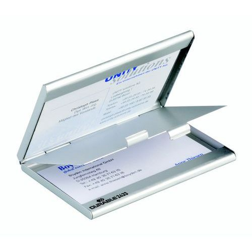 Wizytownik Durable Business Card Box Duo 20 srebrny 2433-23, 06559