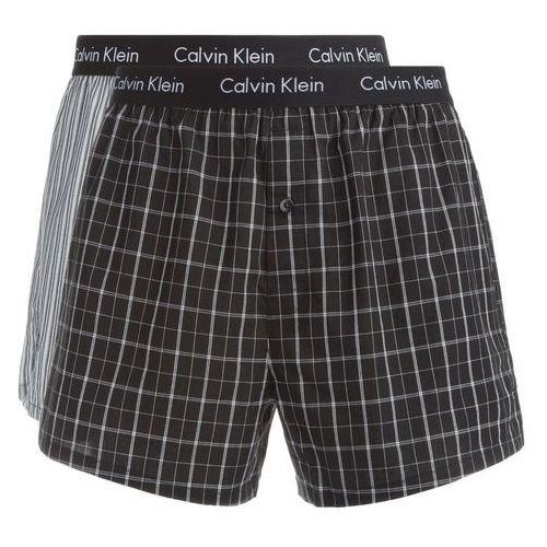 Calvin klein boxer shorts 2 piece czarny szary l
