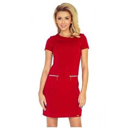 8008be4eab Numoco 134-2 sukienka asia z dwoma zamkami - czerwona xs 149