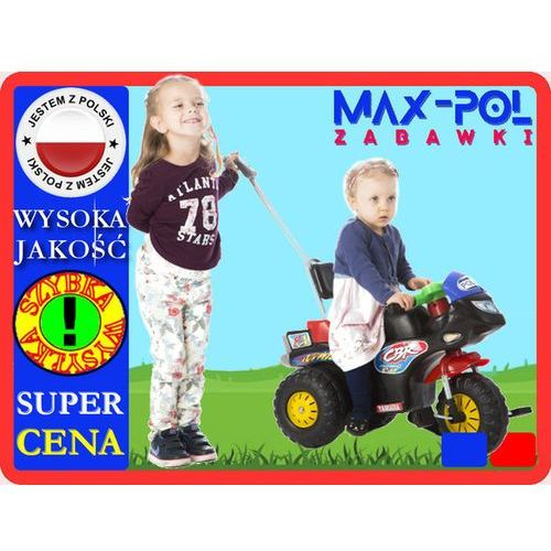 MEGA -MOTOR NA PEDAŁY POLICYJNY, SPORTOWY!!!!! (motor zabawka) od MAXPOL ZABAWKI