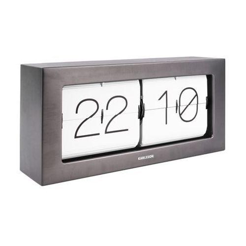 Karlsson Zegar stołowo/ścienny flip clock boxed xl grafit by