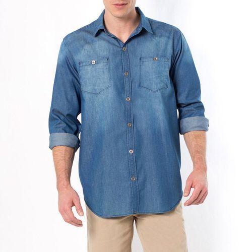 Koszula dżinsowa z długim rękawem, rozmiar 1 + 2 - sprawdź w La Redoute