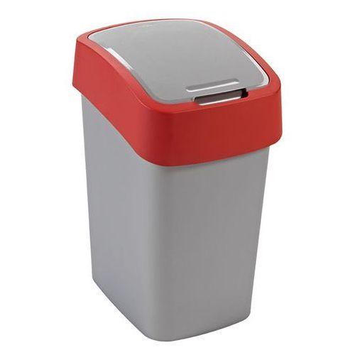 Kosz na śmieci 25 l (szaro-czerwony) Flip Bin Curver - sprawdź w wybranym sklepie