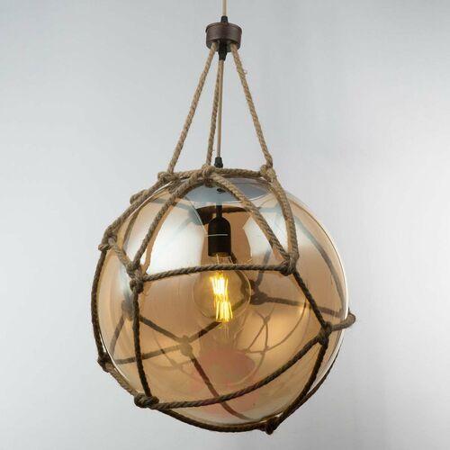 Lampa wisząca Globo Tiko 15859H2 lampa sufitowa zwis 1x60W E27 brązowa / rdzawa