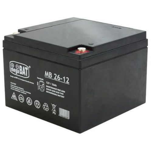 Akumulator agm magabat mb 26-12 (12v 26ah) marki Megabat