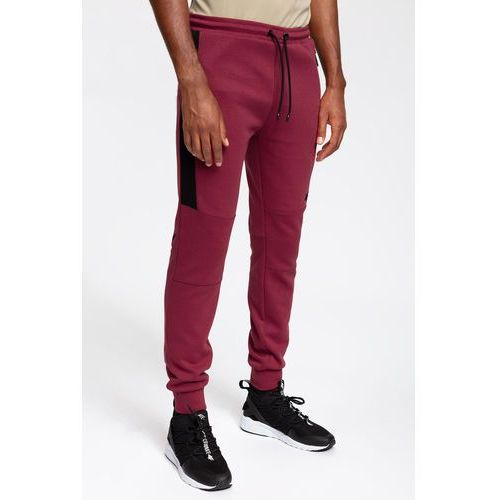 4bb0d4e27e05 Spodnie dresowe męskie SPMD259 - burgund
