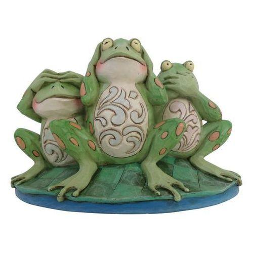 """Trzy mądre żaby """"nie widzę nic złego, nie słyszę nic złego, nie mówię nic złegoCroak No Evil 4047051 Jim Shore figurka ozdoba świąteczna"""