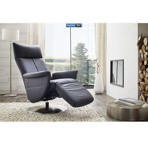 ART RELAX - VIP-B - FOTEL TV- z podnóżkiem-skóra czarny elektryczny, marki niemiecke meble do zakupu w meble24sklep