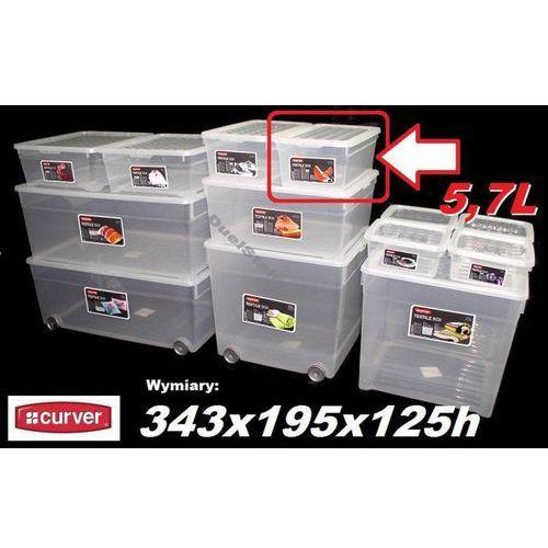 CURVER 5,7L 162118 pojemnik magazynowy z pokrywą 343x195x125h - sprawdź w organizery.eu