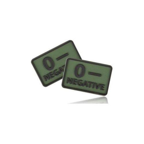 Naszywka emblemat grupa krwi kpl. 2szt. pvc olive green (od-blp-rb-02) marki Helikon-tex