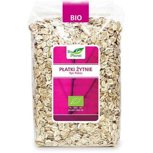 Bio planet - seria różowa (płatki, otręby, musli) Płatki żytnie bio 600 g - bio planet
