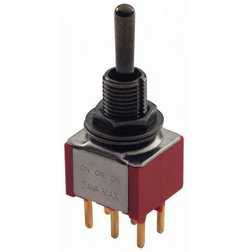 mini toggle switch black on-on-on dpdt std toggle print lug przełącznik gitarowy marki Mec