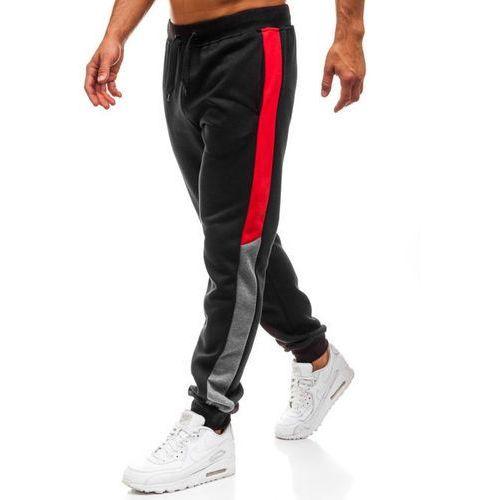 10e4c9bf7aad5c J.style Spodnie dresowe joggery męskie czarne denley kz10 29,99 zł modne,  czarne sportowe joggery męskie od Denley.posiadają kontrastowe wstawki na  bokach, ...