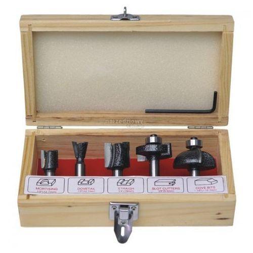 DEDRA Zestaw frezów kształtowych do drewna z płytkami węglikowymi (5 szt.) - produkt z kategorii- frezy