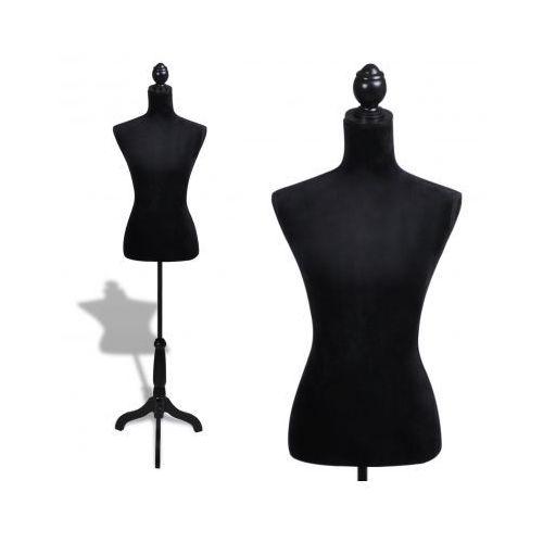 Manekin kobiecy, korpus, czarny welur - produkt dostępny w VidaXL