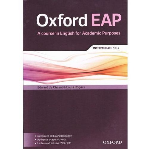 Oxford EAP: Intermediate/B1+: Student's Book and DVD-ROM Pac (223 str.)