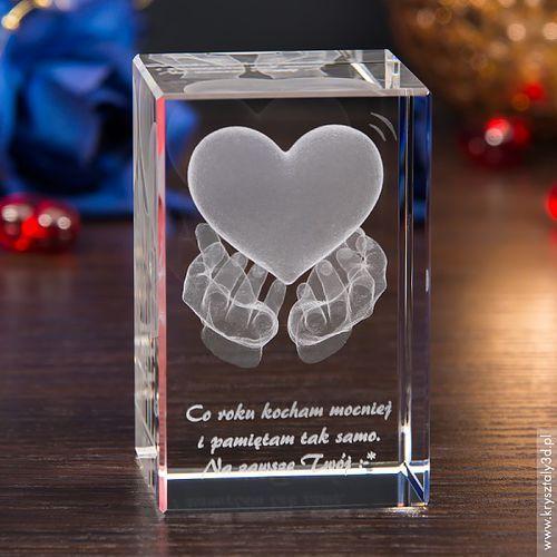 Serce na dłoniach 3D ♥ Twoja własna dedykacja • GRAWER 3D