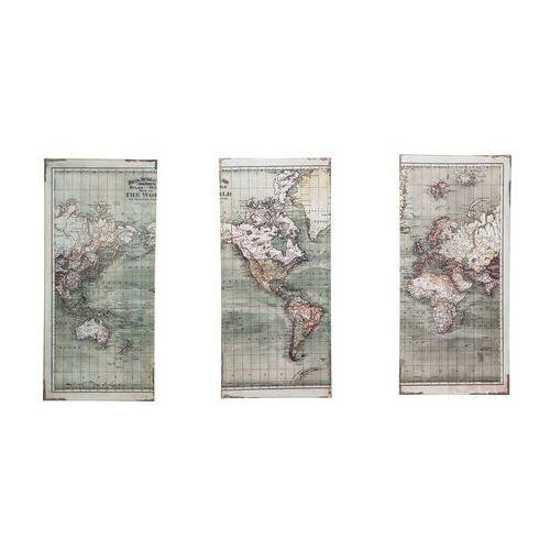 Kare Design Triptychon Map Obraz 120x118cm MDF - 36875 (obraz)
