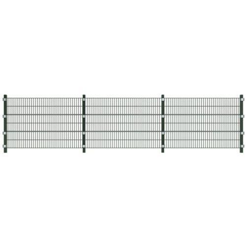 Vidaxl  ogrodzenie panelowe 6 m z słupkami 1,2 wysokości (8718475911630)
