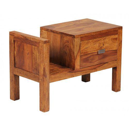 Machina Meble Lagos Stolik Nocny Z Szufladą Drewno Sheesham 60 x 30 x 40 cm - WL1-372 - produkt dostępny w sfmeble.pl