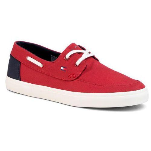 Tenisówki TOMMY HILFIGER - Seasonal Core Boat Shoe Sneaker FM0FM02760 Regatta Red XIT