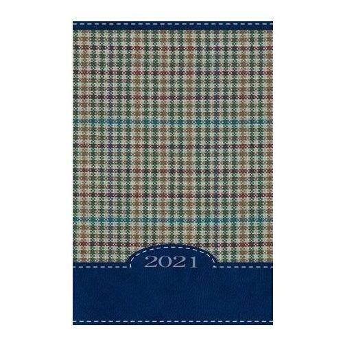 Terminarz 2021 B7 Mały Kolorowy Kratka niebieska (5907564027977)