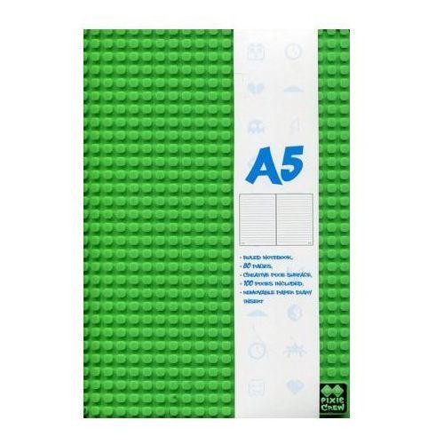 Zeszyt pamiętnik A5 w linie 80 kartek zielony + 100 pixeli