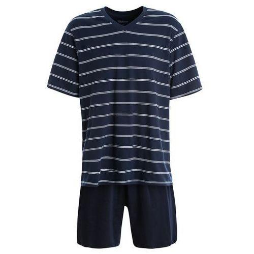 Schiesser ANZUG KURZ SET Piżama dunkelblau, kolor niebieski