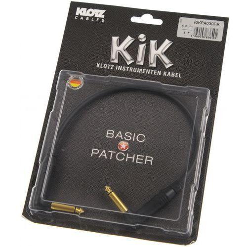 Klotz KIK PA 030 RR kabel instrumentalny jack kątowy-jack kątowy 0,3m, pozłacane wtyki