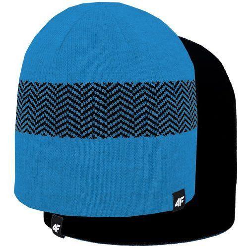 4f Czapka dwustronna h4z18 cam006 33m niebieski/czarny s/m