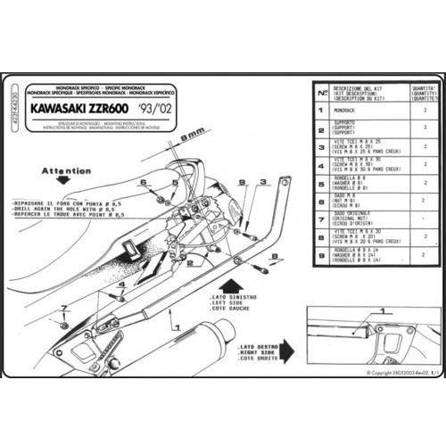 Kappa K4230 mocowanie centralne do ZZR 600 (93>01)