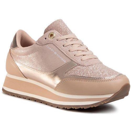 Sneakersy - metallic retro runner fw0fw03337 mahogany rose 641, Tommy hilfiger, 36-41